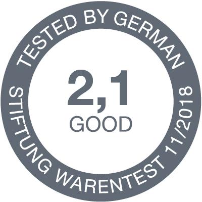 Stiftung Warentest award 2018