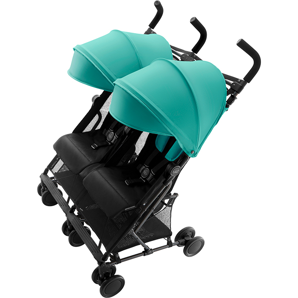 Britax Holiday Double Aqua Green unfolded